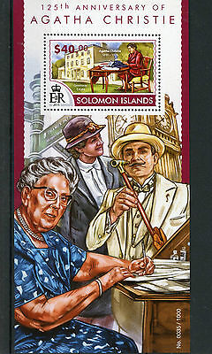 Solomon Islands 2015 MNH Agatha Christie 125th 1v S/S Miss Marple Poirot Stamps