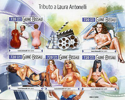 Guinea-Bissau 2015 MNH Tribute Laura Antonelli 5v M/S Nude Model Actress Stamps