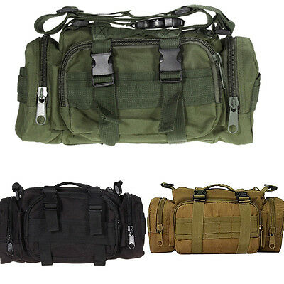 New Outdoor Military Tactical Waist Pack Shoulder Bag Camping Hiking Belt Pouch