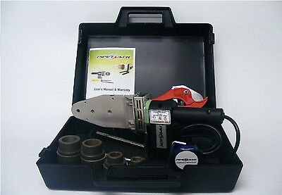 TK-200 NEW Pipe Welding Tool Kit w/4 Adapters - Socket Fusion