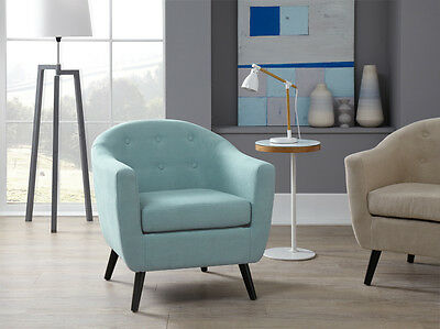 Senga Accent Chair Fabric High Quality Occasional Armchair Curved Back Tub Chair