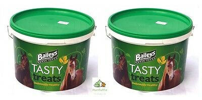 2X 5KG TUBS BAILEYS TASTY HORSE TREATS Healthy Low Calorie Food Snack 10kg DEAL