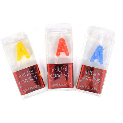 Birthday Candles Alphabet Letters A-Z Choose Letters When Purchasing