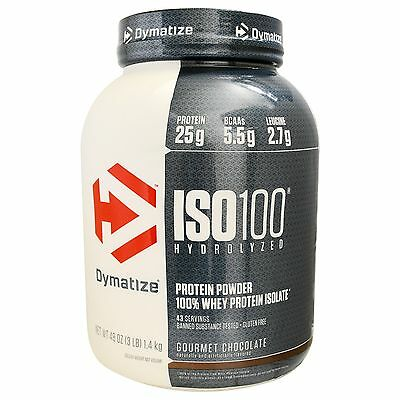 Dymatize Iso 100 3Lb Hydrolyzed 100% Whey Protein Isolate Discounted Sale Cheap