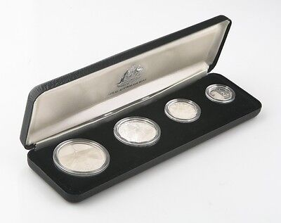 1988 Royal Australian Mint Sterling Silver Proof Set w/ Original Box & Case BU