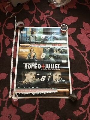 27X40 Original Movie Poster - Romeo & Juliet - Rare Not Double Sided