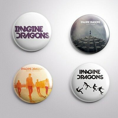 4 IMAGINE DRAGONS - Pinbacks Badge Button Pin 25mm 1''