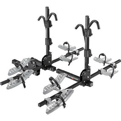 Swagman Quad 2+2 Tray Style Hitch Bike Rack Includes Locking Hitch Pin & Cable