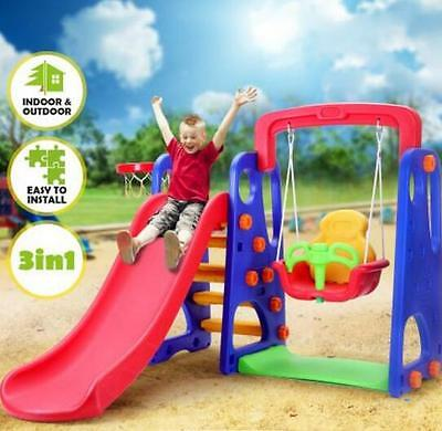 Multi-Colour Childrens Swing and Slide Basketball Activity Center NON Toxic