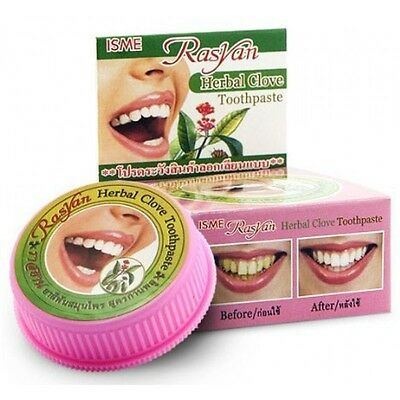Isme Rasyan Herbal Clove Toothpaste Whitening Teeth Anti-Bacteria 25g.