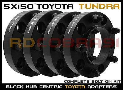 "4 Pc 5x150 MM Toyota Tundra 1.25"" Thick Black Hub Centric Wheel Spacers"