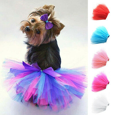 Pet Dog Cat Tutu Skirt Dress Princess Clothes Costume Apparel Outfit S M L