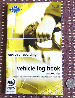 Vehicle Log Book - Pocket Sized 110 x 180 mm - Zions Systems PVLB Landscape Fmt.