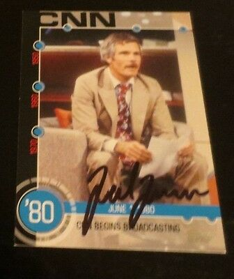 Ted Turner media mogul signed autographed trading card CNN owner Atlanta Braves