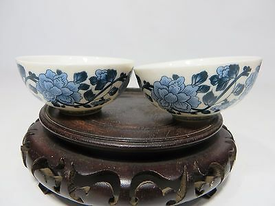 Nice Chinese small blue&white porcelain bowls with mark