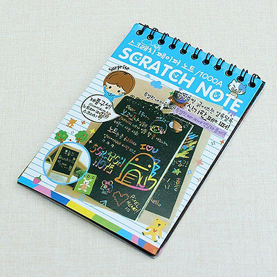 DIY Doodling Pen Scratch Painting Book Kids Children Educational Toy Dainty