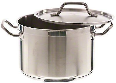 Update International (SPS-8) 8 Qt Induction Ready Stainless Steel Stock Pot w...
