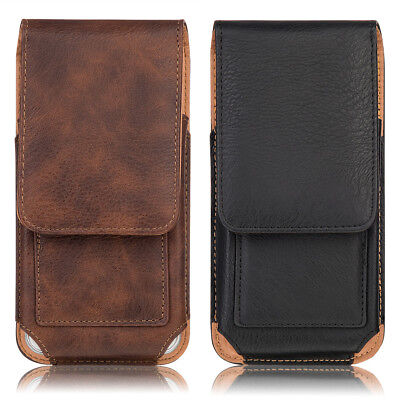Vertical Leather Case Cover Pouch Holster w/ Belt Clip for Various Cell Phone US