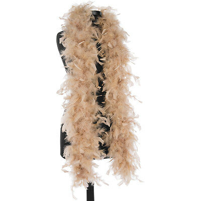Camel 40 Gram Chandelle Feather Boas - 6 Feet Long - Halloween Costumes - Trim
