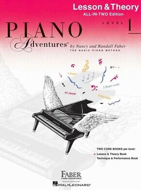 PIANO ADVENTURES All-In-Two Lesson & Theory Book Level 1 *NEW* Music