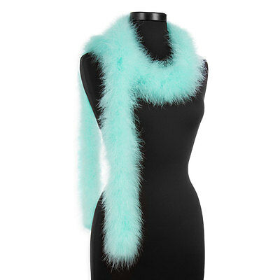 Aqua 25 Gram Marabou Feather Boas - 6 Feet Long - Halloween Costumes - Trim