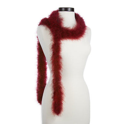 Burgundy 25 Gram Marabou Feather Boas - 6 Feet Long - Halloween Costumes - Trim