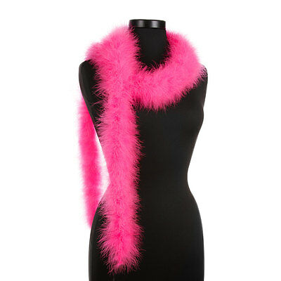 Bubble Gum Pink 25 Gram Marabou Feather Boas - 6 Feet Long - Halloween - Trim