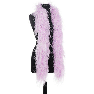Lavender 8 Ply Ultra Ostrich Feather Boas - Scarf - 6 Feet Long - Halloween