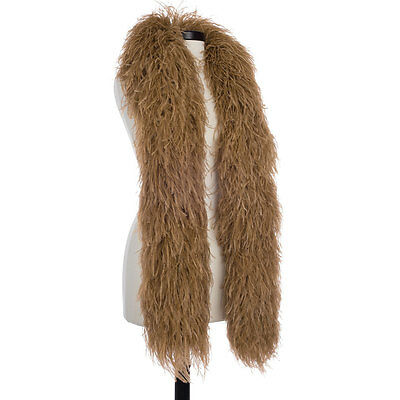 Golden Brown 8 Ply Ultra Ostrich Feather Boas - Scarf - 6 Feet Long - Halloween