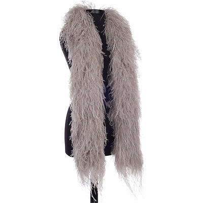 Taupe 8 Ply Ultra Ostrich Feather Boas - Scarf - 6 Feet Long - Halloween Costume