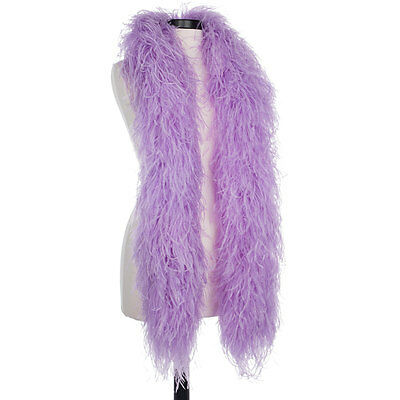 Lilac - Violet 6 Ply Ultra Ostrich Feather Boas - Scarf - 6 Feet Long Halloween