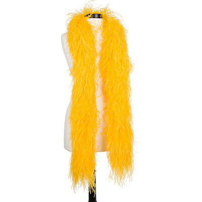 Golden Yellow 6 Ply Ultra Ostrich Feather Boas - Scarf - 6 Feet Long - Halloween