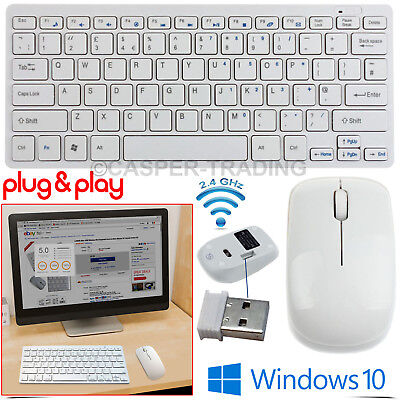 Wireless Bluetooth Keyboard and 2.4GHz Wireless Cordless Optical Mouse Apple Mac