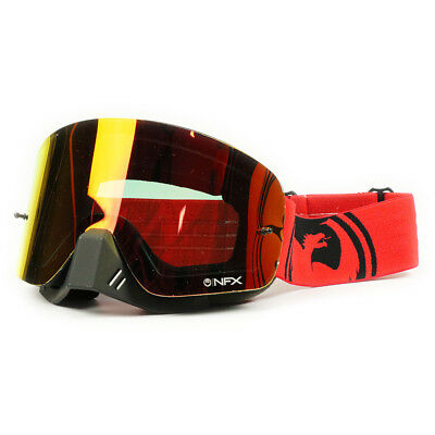 Dragon Mx NEW NFX Fade Red Black Split Ion Dirt Bike Tinted Motocross Goggles