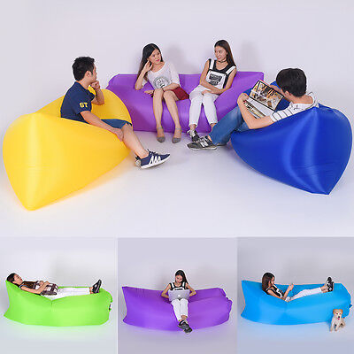 Fast Inflatable Bean bed Air Chair bag Camping Travel Holiday Sleeping Lazy Bed
