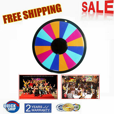 "12"" Tabletop Color Dry Erase Spinning Prize Wheel Fortune Carnival Game 16 slot"