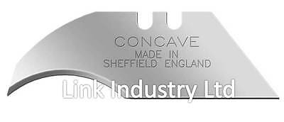 100 Concave Heavy Duty Stanley Blades Made In Sheffield For Delphin Carpet Tool