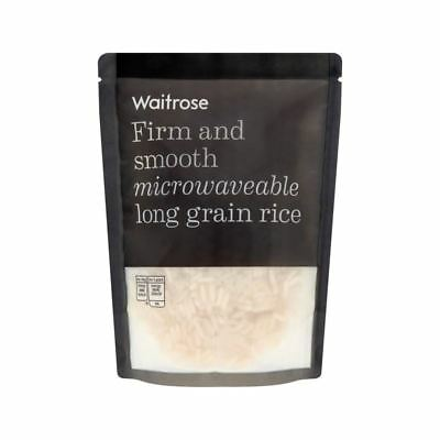Microwave Long Grain Rice Waitrose 250g