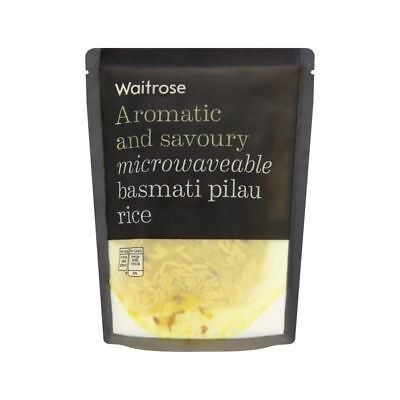 Pilau Microwaveable Rice Waitrose 250g