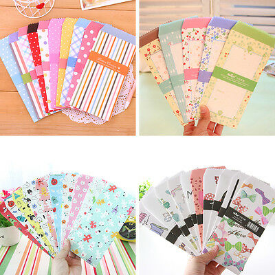 5x Cartoon Colorful Paper Envelope Kawaii Small Baby Gift Craft Envelope