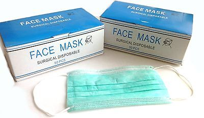 100PC Disposable Surgical Face Masks 3 Ply with ear loop, 5 cents per mask