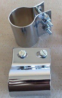 NEW PAIR OF 19mm STAINLESS STEEL BADGE BAR CLIPS