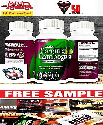 100% Pharma Grade Garcinia Cambogia 3,000mg 95% HCA~WEIGHT LOSS~FAT BURNER