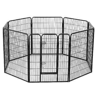 Heavy Duty Dog Puppy Pet Rabbit Cat Guinea Pig Play Pen Run Whelping Cage Bed