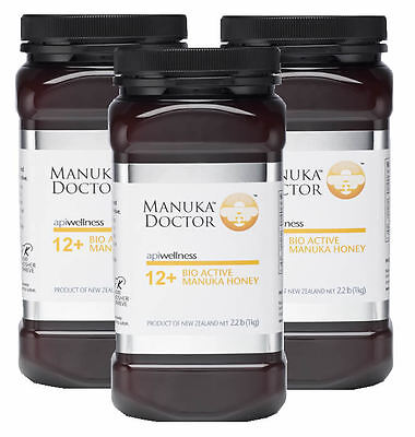 Manuka Doctor Manuka Honey Active12+ 3 x 1 kg - TRIPLE PACK