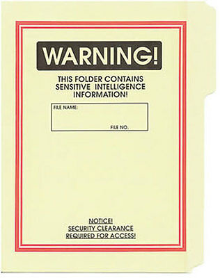 Warning File Folder 5-Pack