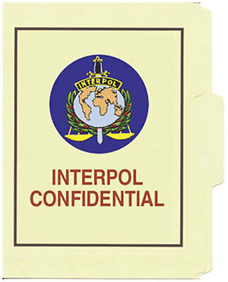 Interpol Confidential File Folder 5-Pack