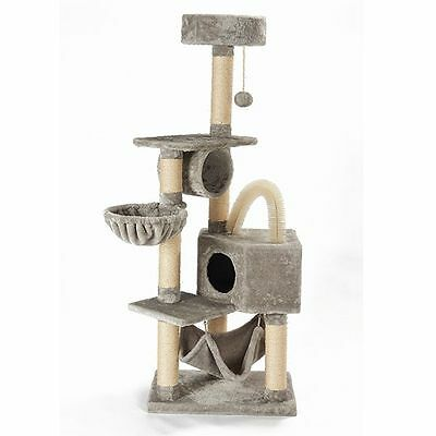 Cat Tree Activity Centre Scratcher Scratching House Climbing Tower Toys Tunnel