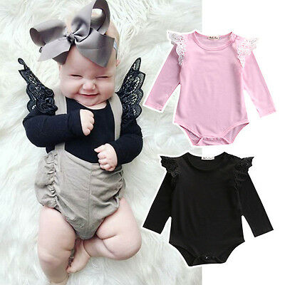 Newborn Infant Toddler Baby Girl Kids Romper Jumpsuit Bodysuit Clothes Outfits