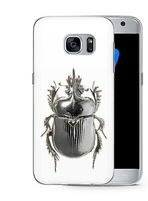 Scarab Bug Egyptian Art Rubber Phone Cover Case fits Samsung Galaxy S5 S6 S7 S6